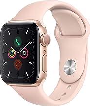 Apple Watch Series 5 (GPS, 40 mm) Aluminio en Oro - Correa Deportiva Rosa Arena