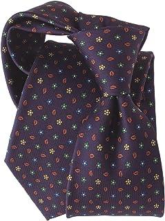 [ステファノ ビジ] ネクタイ ビジネス ブランド イタリア製 シルク メンズ おしゃれ 花柄 小紋 プリント パープル