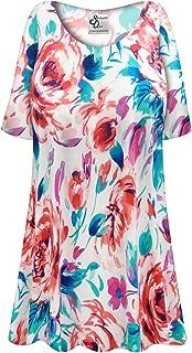 034af271846 Sanctuarie Designs Floral Slinky Print Plus Size Extra Long A-Line Top