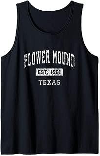 Flower Mound Texas TX Vintage Established Sports Design Tank Top