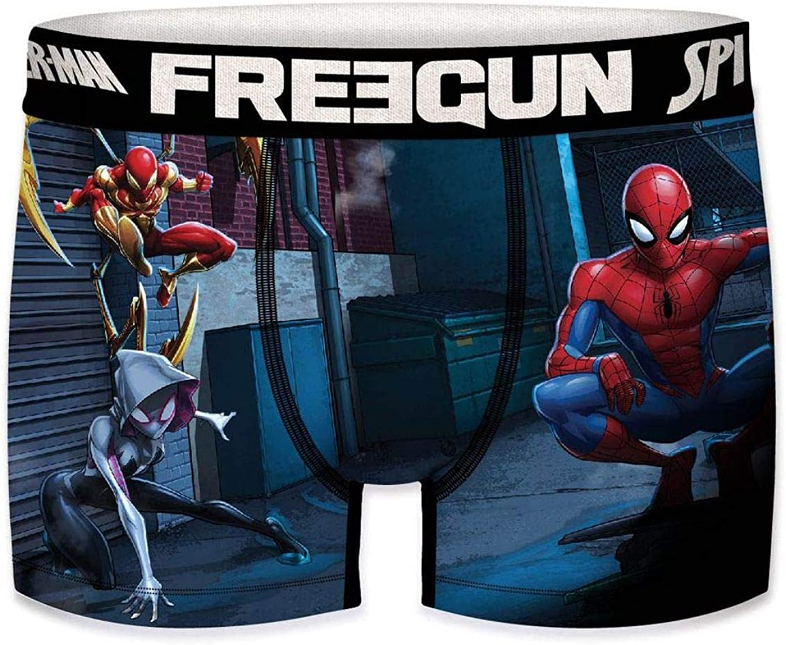 Freegun Spider-Man Boxer da ragazzo The Amazing Spider-Man Venom Green Goblin Comic Supereroi stampa 4 pezzi 6-8 8-10 10-12 12-14 14-16 anni