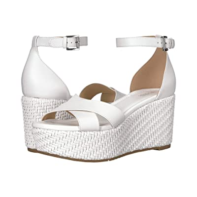 MICHAEL Michael Kors Desiree Wedge (Optic White) Women