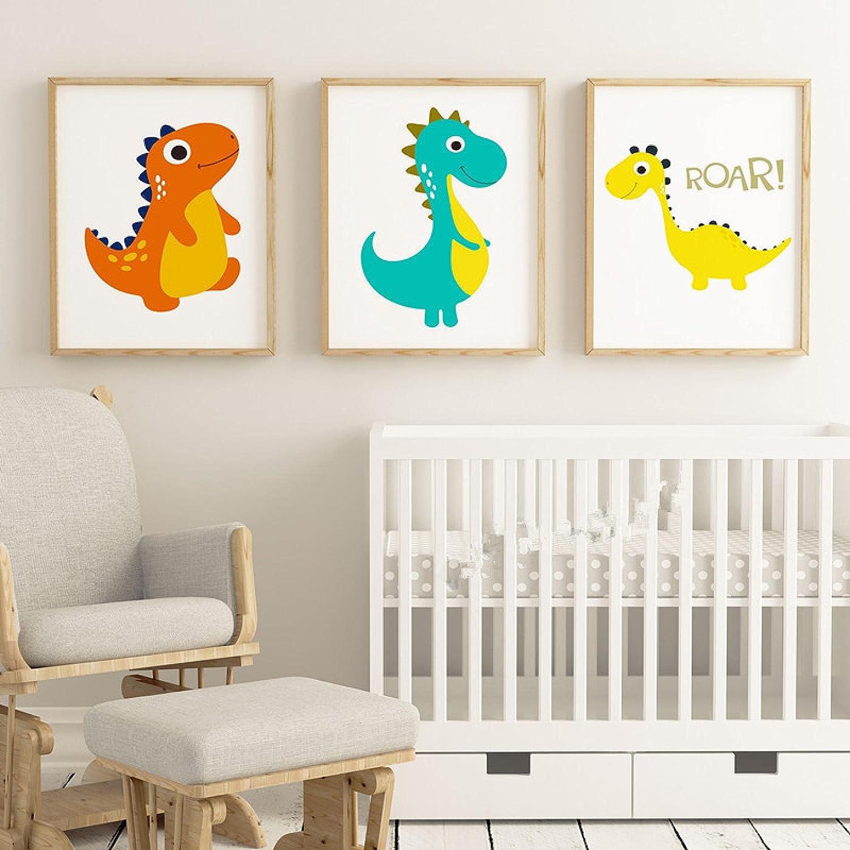 Price reduction Sunsightly Print on Indefinitely Canvas Cartoon Little Children Dinosaur Bedr