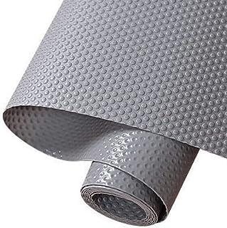 食器棚シート 45*500cmキャビネットシェルフシェルフライナーシンクマット接着剤不要 裁断可能 EVA 耐熱、滑り止め、防湿、防油 食器棚/引き出し/キッチンに適用家具保護(グレー)