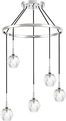 Woodbridge Lighting 21128CHRLE-C30410 Chandelier, Chrome/Chrome