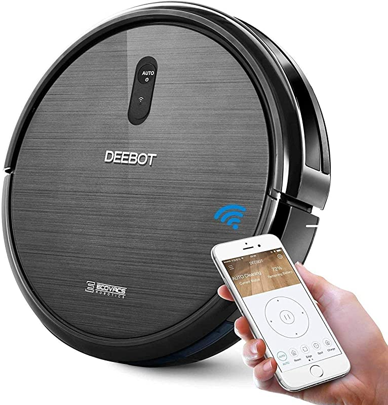 ECOVACS DEEBOT N79 Robotic Vacuum Cleaner With Strong Suction For Low Pile Carpet Hard Floor Wi Fi Connected Renewed