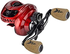 KastKing MegaJaws Baitcasting Reel, Industry First Color-Coded Gear Ratios from 5.4:1 to 9.1:1, Fishing Reel with 11+1 High Performance BB, Magnetic Braking System, 17.6 Lb Carbon Fiber Disc Drag