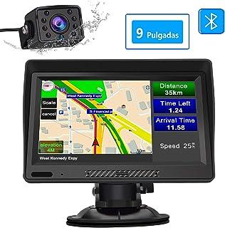 AWESAFE Navegador GPS para Camiones y Coches con Bluetooth y