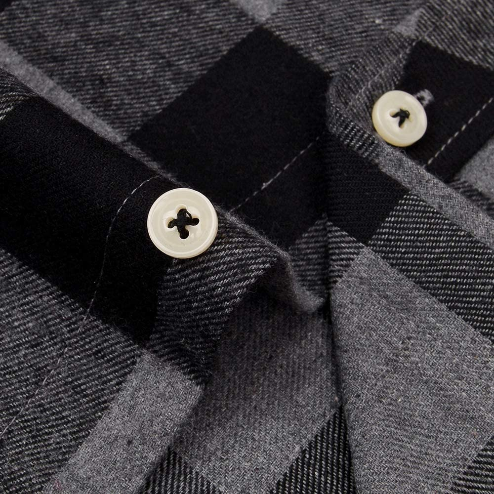 Alimens & Gentle Men's Sleeveless Flannel Plaid Shirts Vest Casual Button Down Shirt
