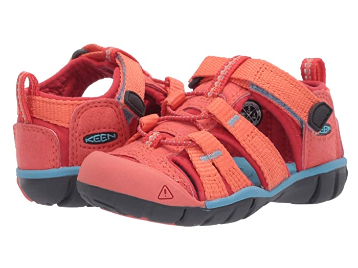 Keen Kids  Seacamp II CNX (Toddler) (Coral/Poppy Red) Girls Shoes