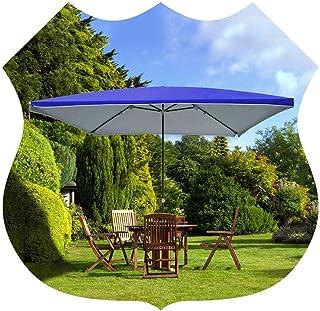 6.5x6.5ft / 200x200cm Beach/Pool/Patio Rectangle Outdoor Beach Umbrella Garden Umbrella