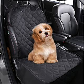Pedy Pet Front Seat Cover for Cars, Dog Car Seat Cover, Nonslip Rubber Backing with Anchors, Black