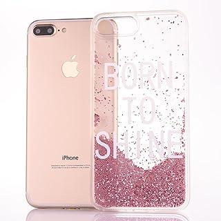 fc6c0f031b0 MoEvn Funda iPhone 6S Plus, Bling Arena Movediza Lentejuelas Carcasa iPhone  6 Plus Sparkle Transparente