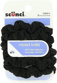 Scunci Effortless Beauty Mini Slinky Black Twisters, 18-Count