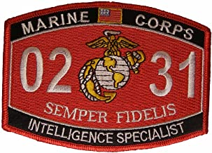 United States Marine Corps MOS 0231 Intelligence Specialist MOS Military Patch - Veteran Owned Business