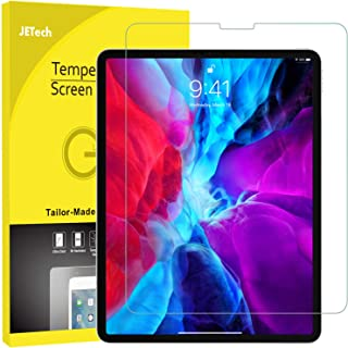 JETech Screen Protector for Apple iPad Pro 12.9-Inch (2018 Release), Face ID Compatible, Tempered Glass Film