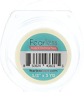 Fearless Tape - Cinta de doble cara para mujer para ropa y cuerpo, color transparente para todos los tonos de piel, rollo ...