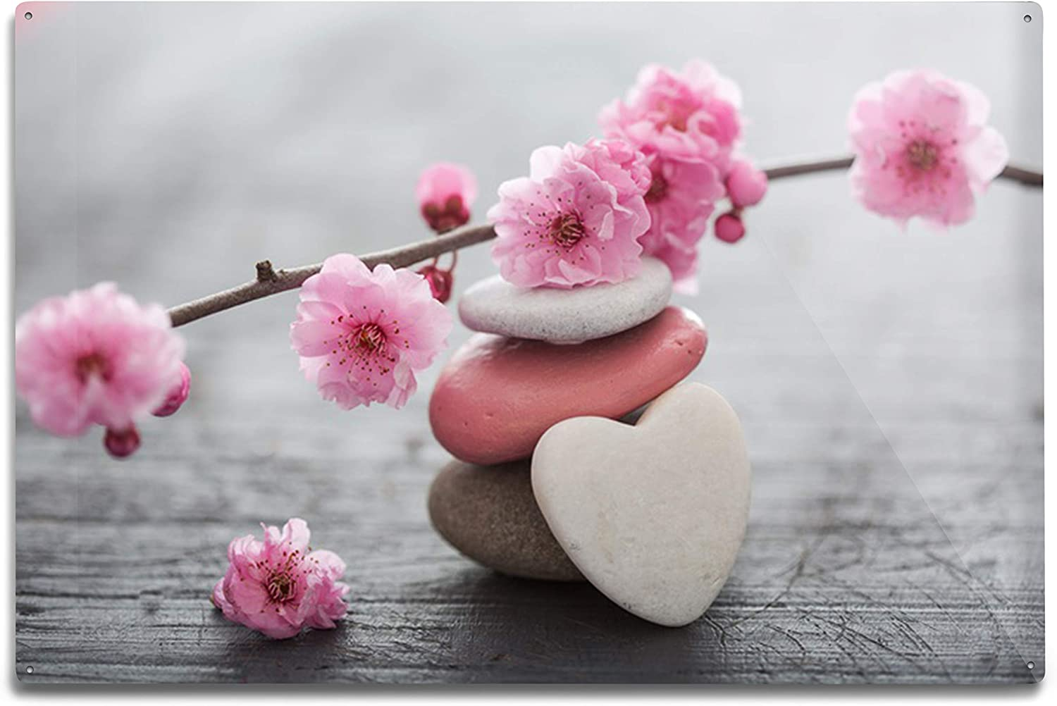 Lantern Press Zen Flowers and Stones overseas Ranking TOP11 Photography 12x18 A-93564