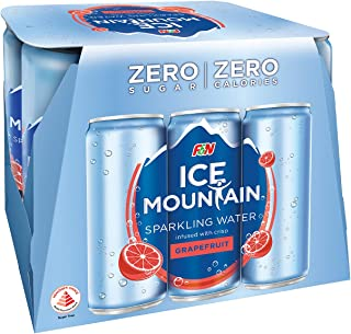 Ice Mountain Sparkling Water Grapefruit, 325ml, (Pack of 6)
