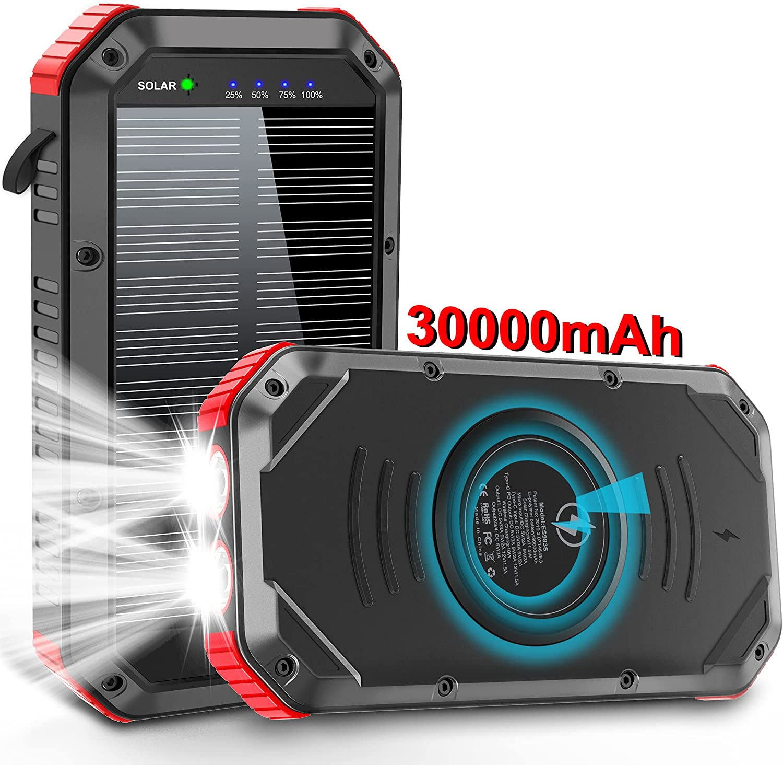EGRD 30000mAh Solar Power Bank  $24.98 Coupon