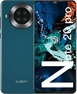 "CUBOT Note 20 Pro Móviles Libres, 128GB + 8GB Smartphone, Pantalla 6.5"" HD+, 20MP Quad cámara, Android 10.0 Teléfono Móvil..."