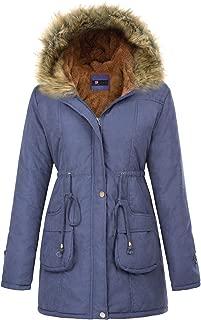 KANCY KOLE Women's Hooded Warm Winter Faux Fur Thicken Fleece Parkas Long Coat