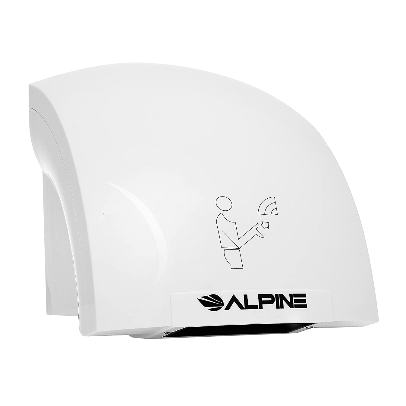 Alpine Hazel Automatic Hand Dryer | ABS Polycarbonate Hands Drying Device | Ultra-Quiet High Speed Hot Air Hand Blower | No Touch Operation | Easy & Fast Installation | with Infrared Sensor