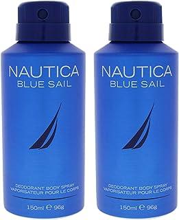 Nautica Blue Sail Deodorant Body Spray by Nautica for Men - 5 oz Body Spray - (Pack of 2)
