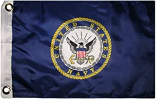 12x18 US Navy USN Seal Emblem Crest Double Sided Solarmax Nylon Car Boat Bike Flag 12x18 Outdoor Banner, Model: , Sport & Outdoor