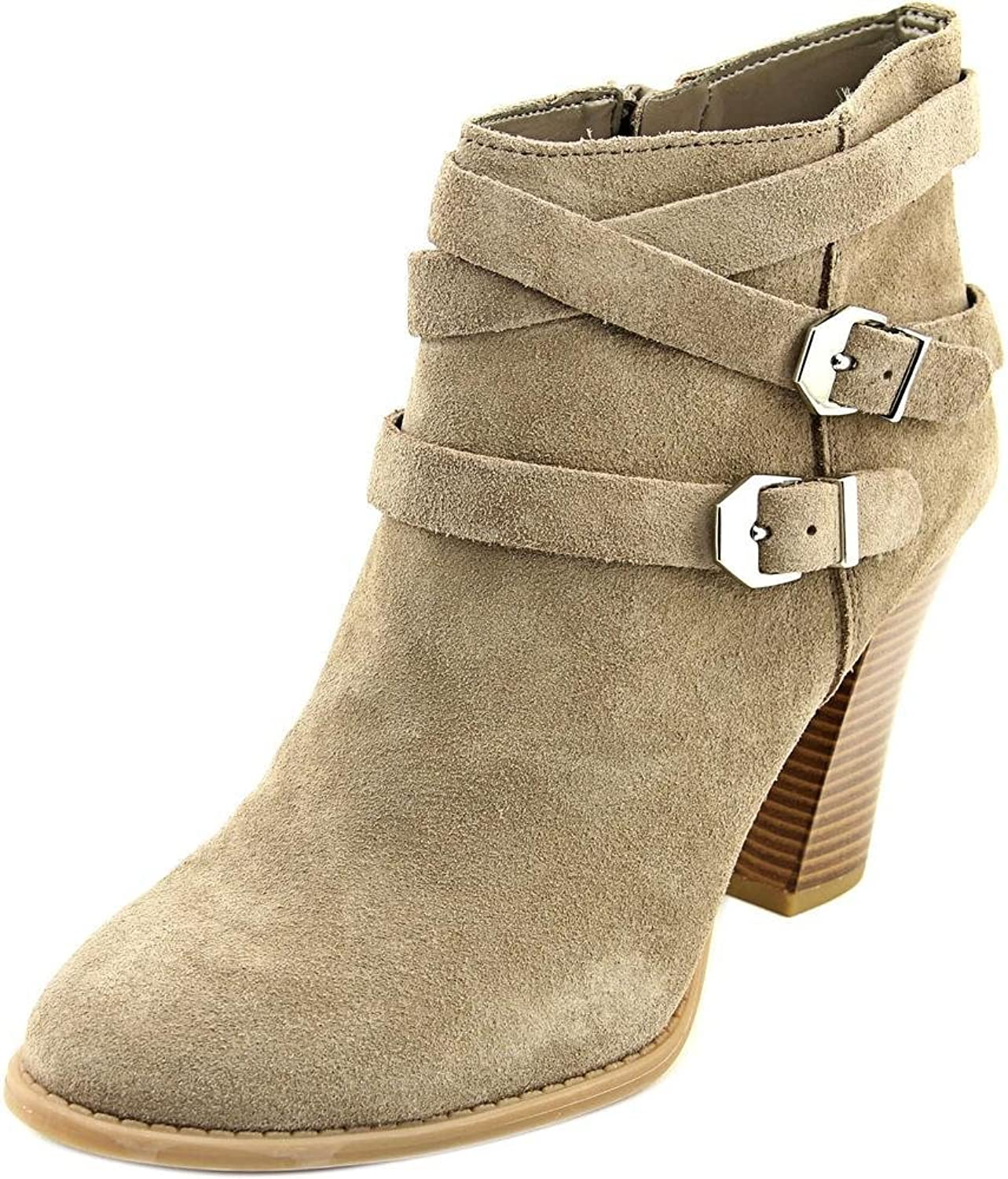 INC International Concepts Womens Jaydie Suede Round Toe Ankle Cowboy Boots