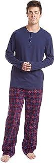 ست پیراهن و شلوار لباس خواب آستین بلند مردانه چروکی