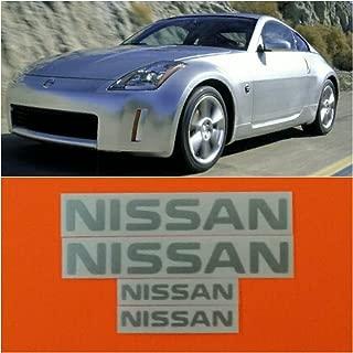 R&G NISSAN & 350Z High Temp Brake Caliper Decal Sticker Set of 4 (Metallic Silver)