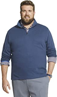 Geoffrey Beene Mens Big and Tall Long Sleeve Stretch Twill 1/4 Zip Pullover