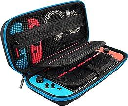 Capa para Nintendo Switch, bolsa protetora para transporte de viagem Axiba com 10 suportes para jogos para Nintendo Switch