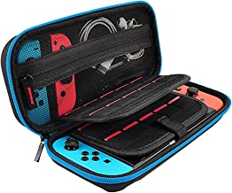 Christmas Best Accessory for Nintendo Switch!!!Kacowpper Carrying Case Carbon Fiber Shell Portable Pouch Travel Bag for Nintendo Switch
