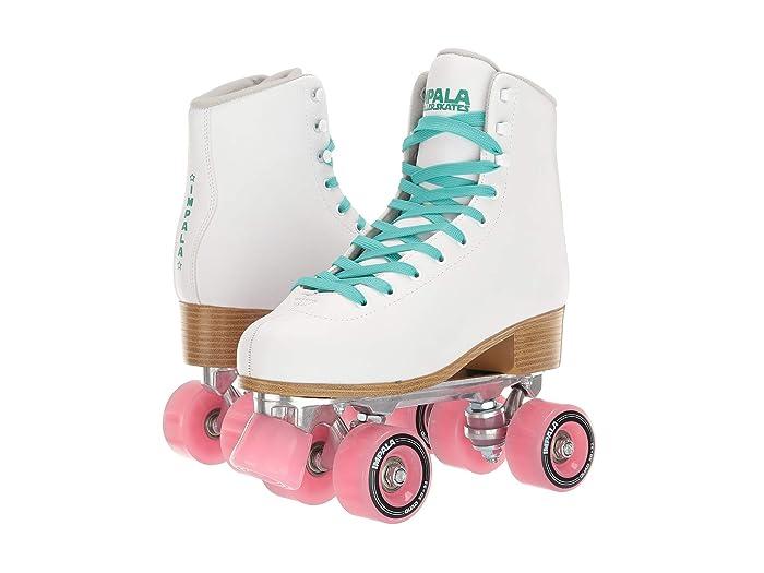 60s Shoes, Boots Impala Rollerskates Impala Quad Skate Big KidAdult White Girls Shoes $94.95 AT vintagedancer.com