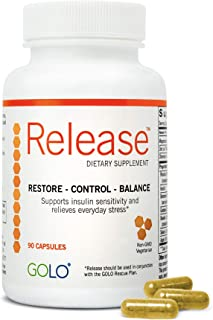GOLO Release Diet Supplement - Natural Plant-Based Nutraceutical - Balance Hormones, Increase Metabolic Efficiency - No Caffeine, No Stimulants, Vegetarian Safe - 30 Day Supply - 90 Capsules