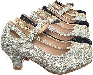 0aa636e6d73 Link Children Girl Rhinestone Crystal Glitter Pump for Wedding   Parties