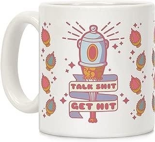 LookHUMAN Talk Shit Get Hit Sayaka Bat White 11 Ounce Ceramic Coffee Mug