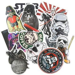 SetProducts  Top Pegatinas! Juego de 25 Pegatinas de Star Wars Vinilos - No Vulgares - Fashion, Estilo, Bomba - Personalización Portátil, Equipaje, Motocicleta, Bicicleta, Moto.