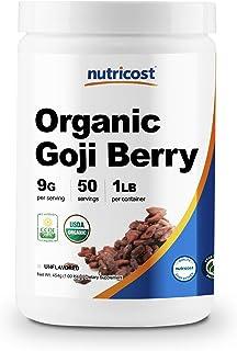 Sponsored Ad - Nutricost Organic Goji Berry Powder (1lb) - USDA Certified Organic, Gluten Free, Non-GMO, Vegan