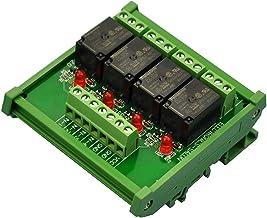 ELECTRONICS-SALON DIN montaje en riel de módulo de interfaz de relé 4 SPDT, OMRON 10 A relé, 24 V bobina.