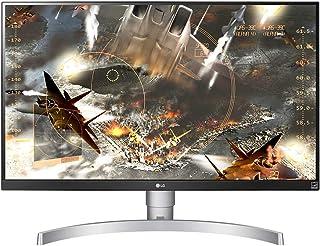 LG 27 inch 4K UHD LED Monitor with VESA Display HDR 400, Silver White - 27UL650-W