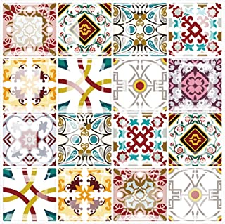 Yipscazo Peel and Stick Backsplash Tile for Kitchen, Kitchen Backsplash Peel and Stick in Cherry Moroccan Design (10 Sheets 10