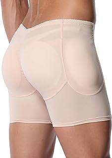 Queenral Male Shaper Panty Men Underwear with Butt Lifter Pads Slimming Waist Belt