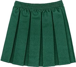 Kids Plain Box Pleated School Skirt Girls Uniform Elasticated Waist Mini Skirt