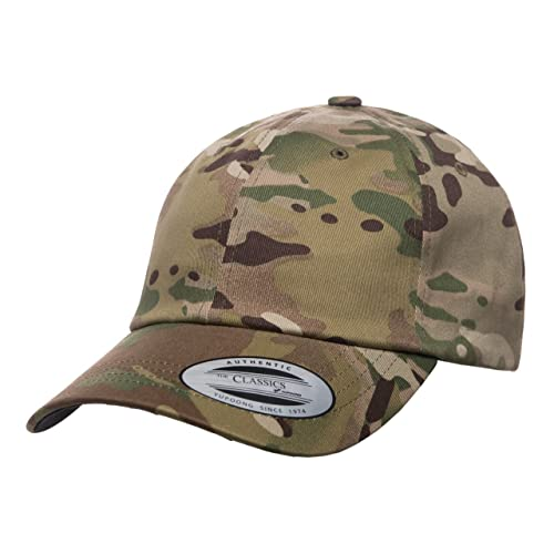 4b15644bfaf Flexfit Low Profile Cotton Twill Multicam Camo 6 Panel Baseball Cap  Officially Licensed Multi-Cam