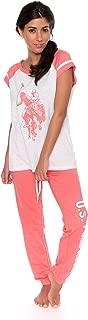 U.S. Polo Assn. Womens Short Sleeve Shirt and Long Pajama...