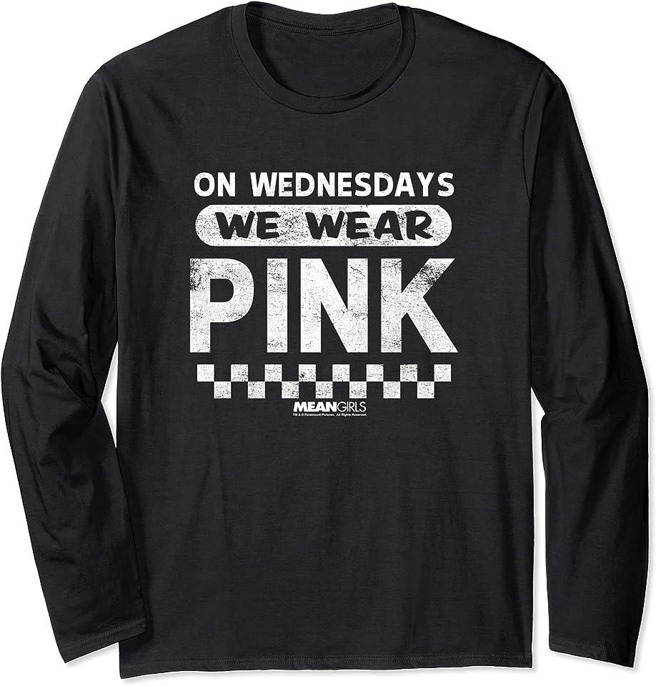 We Wear Pink Checkered Long Sleeve T-Shirt
