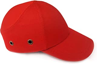 Safety Cap/Bump Cap ABS, HDPE Shell, Soft Cushion to Protect Head for Construction Workers, Welders, Pure Cotton- RED